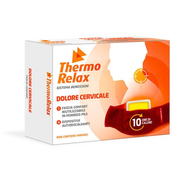 ThermoRelax - Facia Cervicale con 4 Dispositivi Autoriscaldanti Sostituibili. Sollievo contro i dolori alla zona cervicale, mantiene il calore fino a 10 ore.
