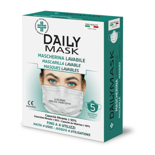 Daily Mask Mascherina Lavabile per adulti 5pz