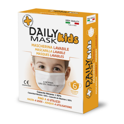 Daily Mask Kids Mascherina Lavabile per bambini 6pz