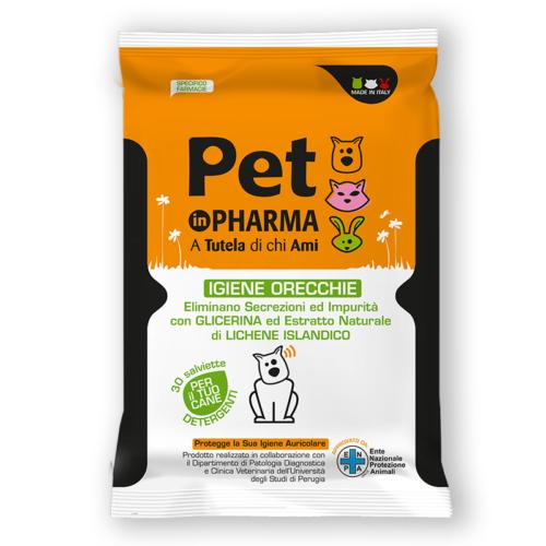 Pet in PHARMA Salviette per Igiene Orecchie